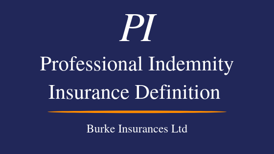 Professional Indemnity Insurance Definition